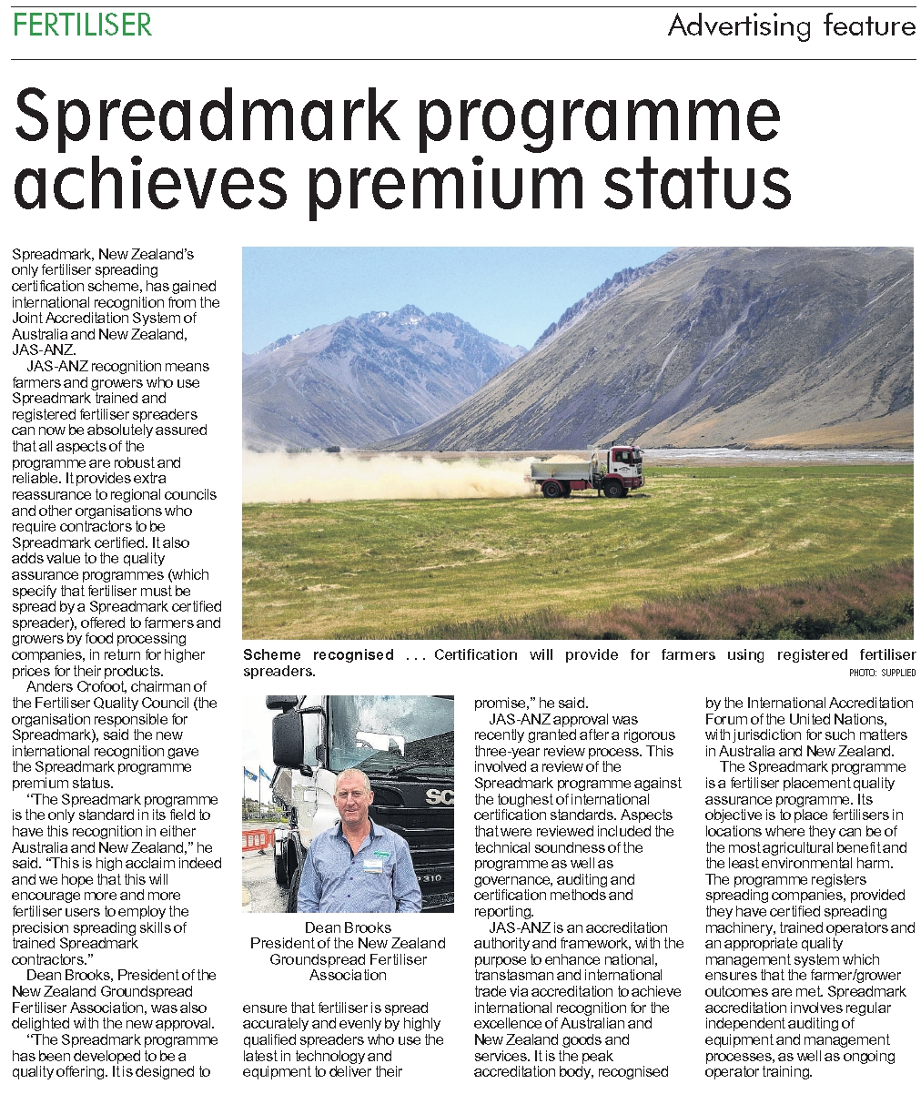 january2019-Spreadmark programme achieves premium status_1